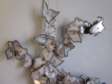 Jere Styled Brutalist Metal Wall Sculpture